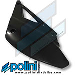 POLINI XP4S Right SIDE NUMBER PLATE BLACK